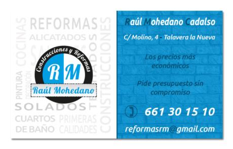 Tarjeta visita RM reformas